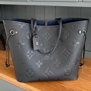 Louis Vuitton M45685 NEVERFULL Empreinte Black